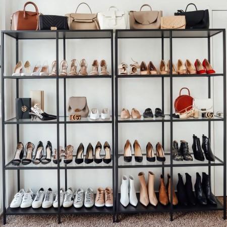 Pomysł na szafę na buty i torebki kobiece